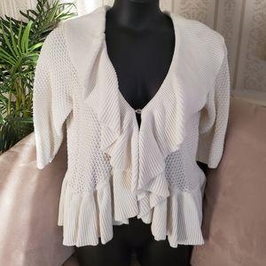Cream Ruffle Sweater